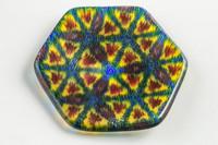 Xander D'Ambrosio - Rainbow Kaleidoscope Murrine Plate