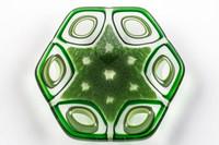Xander D'Ambrosio - Green Macro/Micro Cellular Murrine Dish