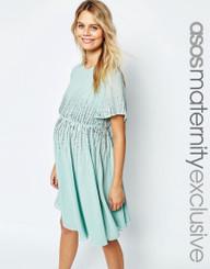 ASOS Maternity Premium Embellished Sequin Skater Dress