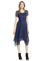 Jessica Simpson Lace Hanky Hem Maternity Dress