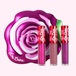Lime Crime Fuchsia Rose Velve-Tin Mini Lip Set
