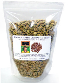 Liberica green unroasted beans from the Philippines  ##for 1lb (larger sizes available)##
