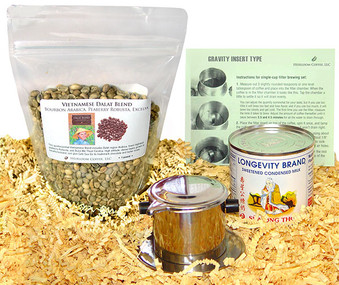 Green unroasted coffee bean Vietnamese Coffee Kit