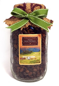 Glass-Packed Master Roast: Papua New Guinea ##for 12 oz, fresh-packed in sturdy glass jar##