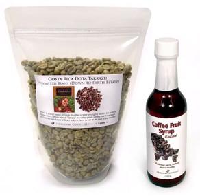 ##for 1lb green Costa Rica coffee plus 5oz Coffee Fruit (Cascara) Syrup##