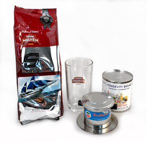 Vietnamese coffee kit with S Blend and Logo Glass##save $4 on this special, limited-time kit##