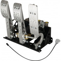 Pro-Race Universal Floor mount bulkhead oriented master cylinders kit - standard throttle cable