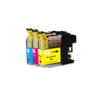 3-Pack COLOR Compatible Ink for Brother LC101 / LC103 XL