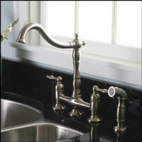 Kitchen Faucet with matching Sprayer - Bridge Style