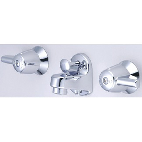 Central Brass 1177-A Shelf Back Faucet 4 To 6 Inch Adjustable Centers, Chrome