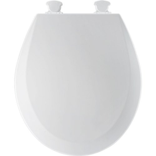 Bemis 500EC000 Molded Wood White Round Toilet Seat