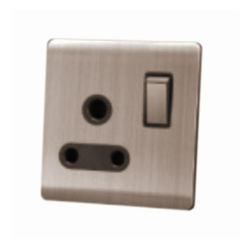 My Home Diy Champagne 15A 1 Gang Switch Socket