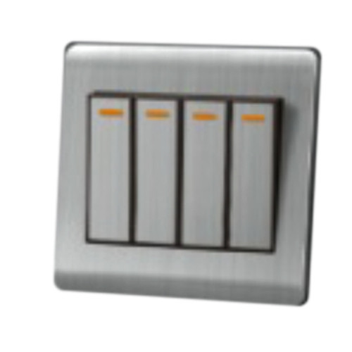 My Home Diy Silver 4 Gang 1 Way Switch