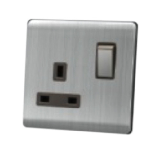 My Home Diy Silver 13A 1 Gang Switch Socket