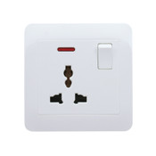 My Home Diy White 1 Gang Universal Switch Socket With Neon