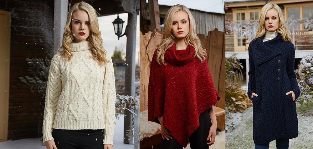 Womens Irish Sweaters for Christmas