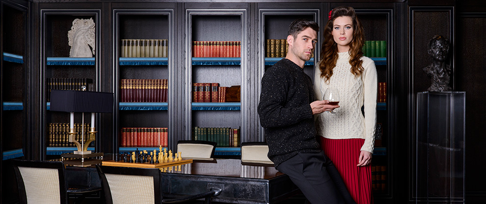 Mens Luxury Aran Sweaters & Irish Knitwear