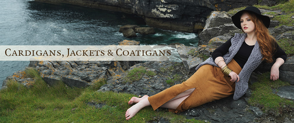 Irish Cardigans, Cable Knit Coats, Wool Hoodies for Women