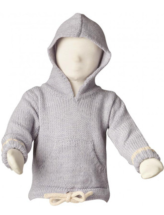 Kid's Alpaca Hooded Pouch Sweater
