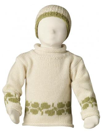 Kid's Shamrock Roll Neck Sweater