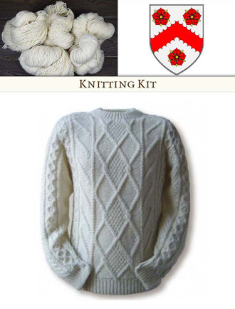 White Knitting Kit