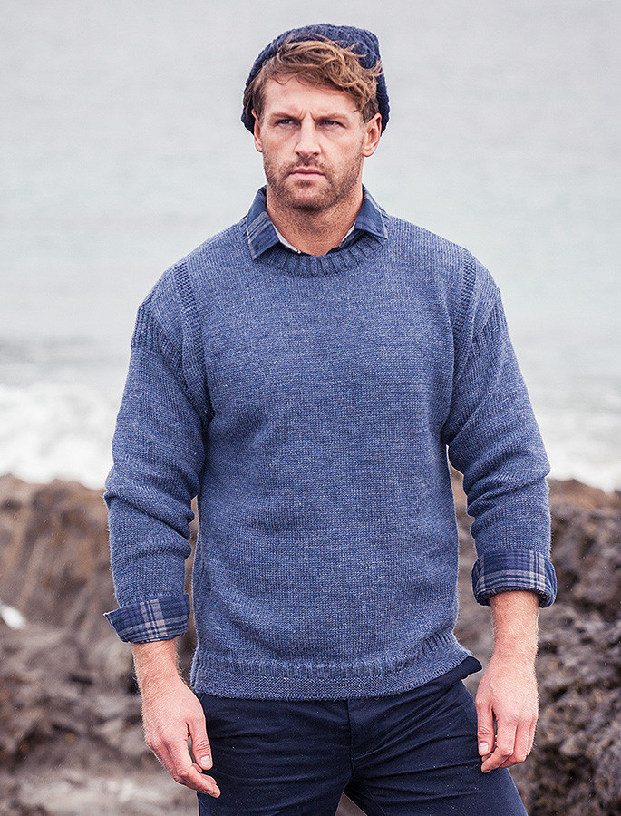 Knitting Patterns For Guernsey Sweaters : Guernsey Sweater, Jumper, Irish Wool Jumper, Aran Sweater