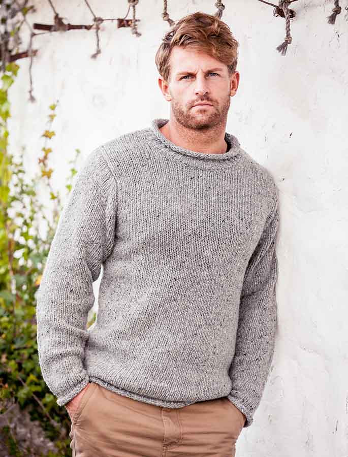 Knitting Patterns Fisherman s Rib Sweater : Roll Neck Sweater Men, Aran Fisherman Sweater, Mens