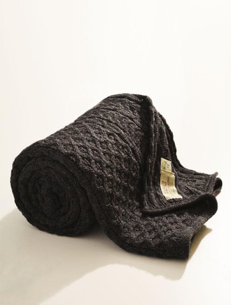 Honeycomb Aran Throw