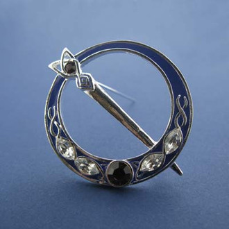 Silver Plated Tara Brooch with Stones
