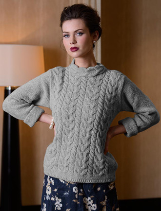 Luxury Aran Horseshoe Cable Sweater