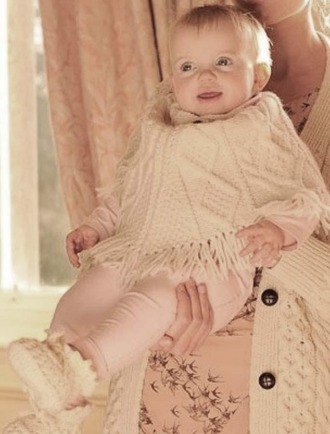 Baby Aran Poncho