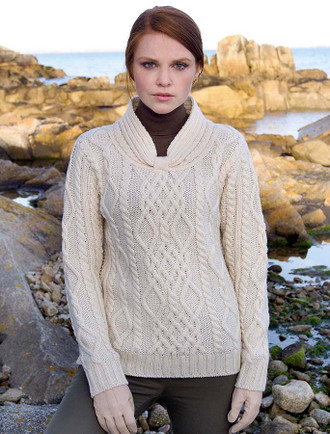 Women's Merino Sweater with Tab Detail