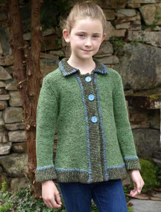 Kid's Blanket Stitch Cardigan