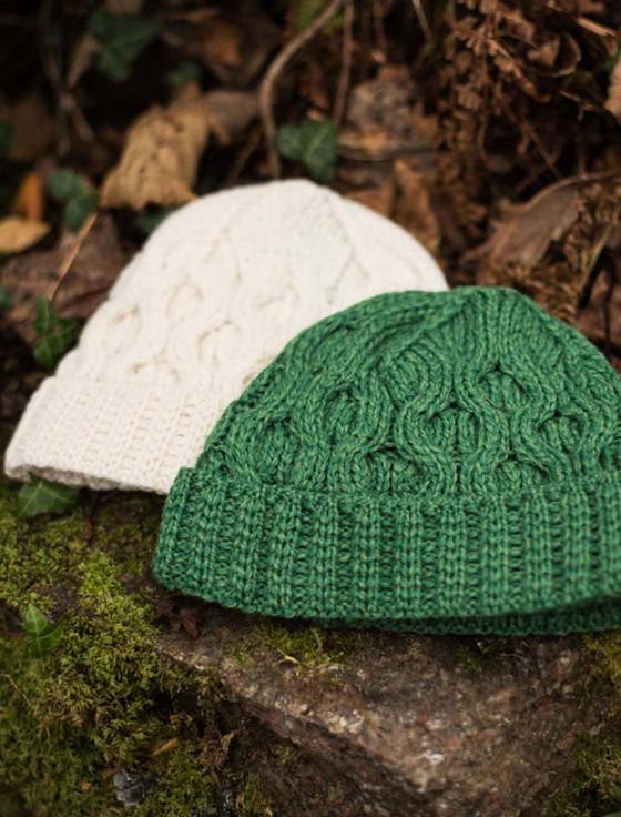 Merino Wool Knitting Patterns : Merino Wool Cable Knit Hat