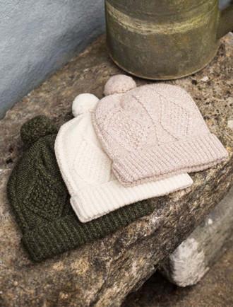 Handknit Aran Ski Hat