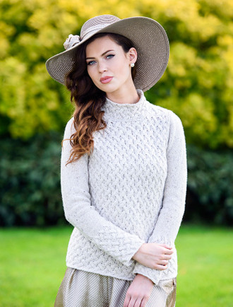 Aran Trellis Sweater
