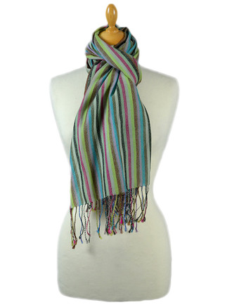 Striped Scarf - Green