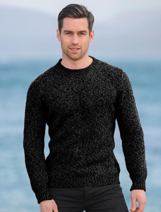 Plain Crew Neck Sweater - Charcoal