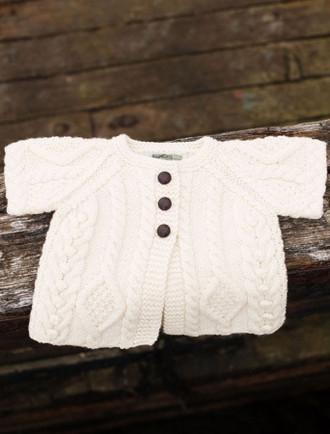 Baby/Toddler Aran Cardigan with Short Sleeves