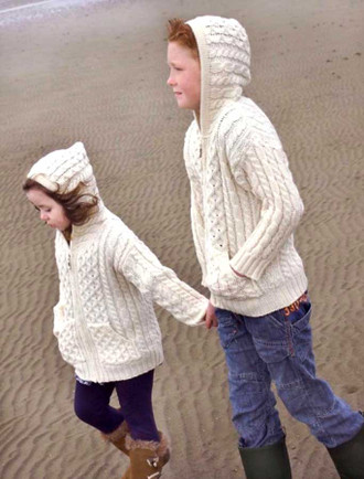 Kid's Hooded Cardigan with Pockets