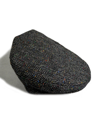 Tweed Flat Cap - Charcoal