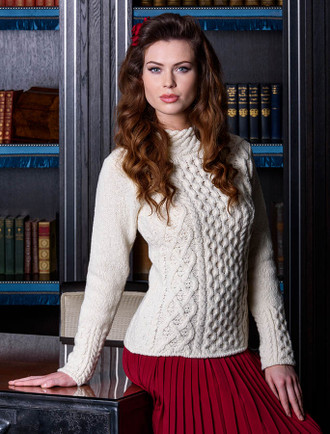 Luxury Aran Claddagh Cable Sweater