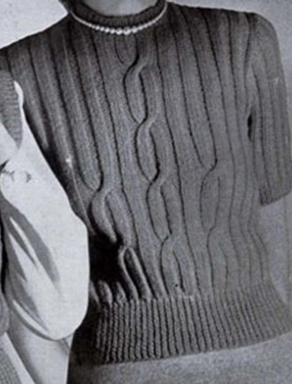 Vintage Pattern: Large Cable Sweater