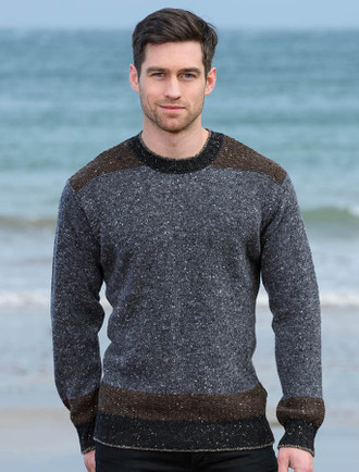 Lismore Crew Neck Sweater - Peat