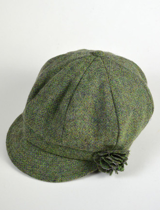 Ladies Shannon Newsboy Hat - Light Green