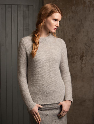 Links Stitch Mock Neck Sweater