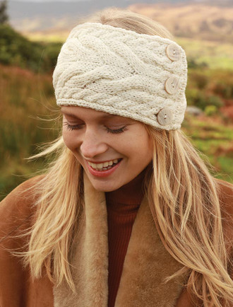 Luxury Cable Stitch Headband - Classic Aran