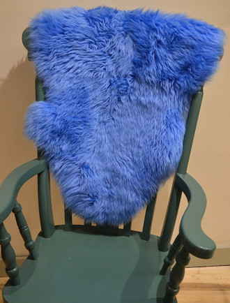 Deep Pile Sheepskin Rug - Blue