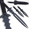 Undead Slayer Set Ninja Sword, 2 Thrower Knives, Shoulder Sheath