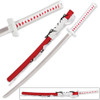 Naruto Anime Omoi Lightning Infused Katana Red Long Sword Steel